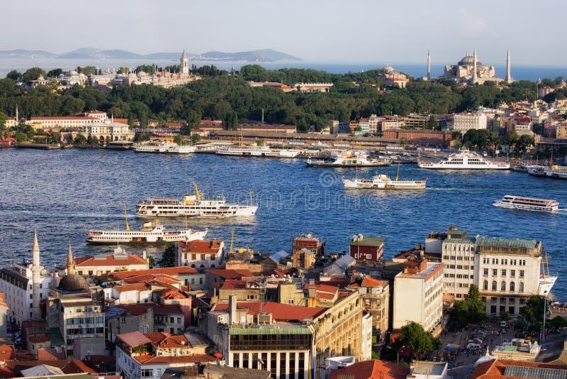 Город городского пейзажа Стамбула в Турции стоковое фото