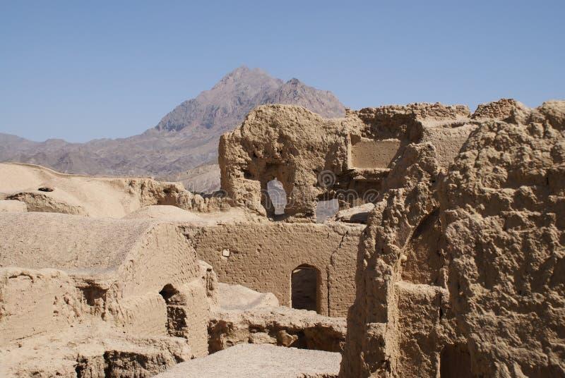 Город грязи около Yazd, Ирана стоковое фото