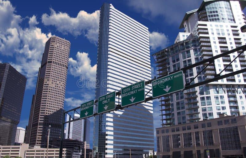 Город Денвера Колорадо стоковое фото rf