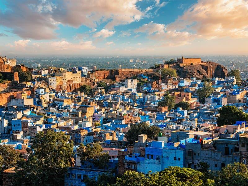 Город Джодхпура голубой, Индия стоковое изображение