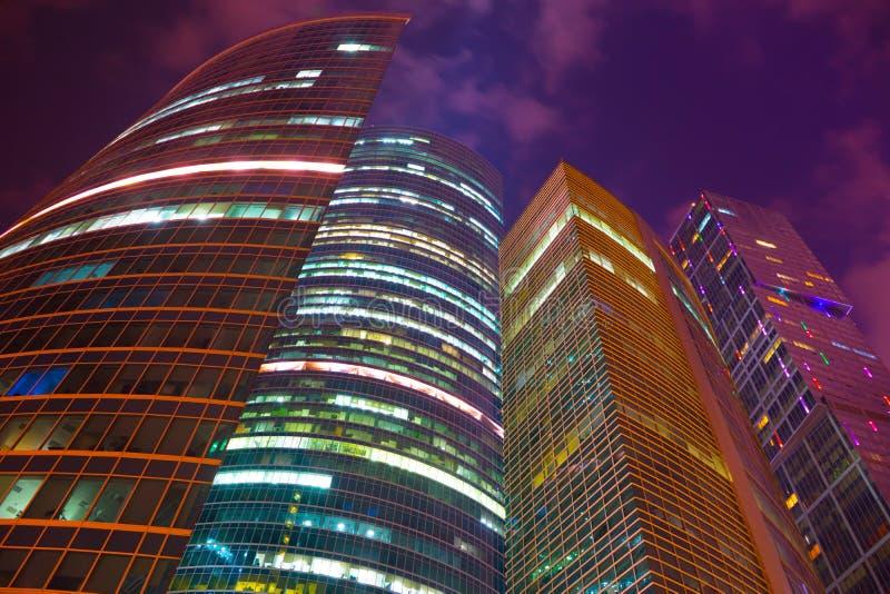 Город делового центра Москвы стоковое изображение rf