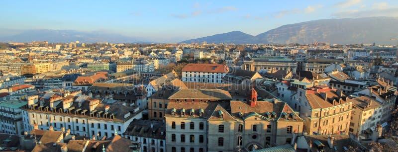 Город Женевы, Швейцария стоковое изображение rf