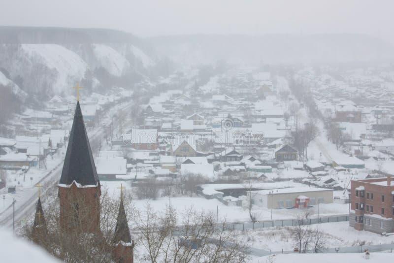 Город зоны Tobolsk Tyumen стоковая фотография
