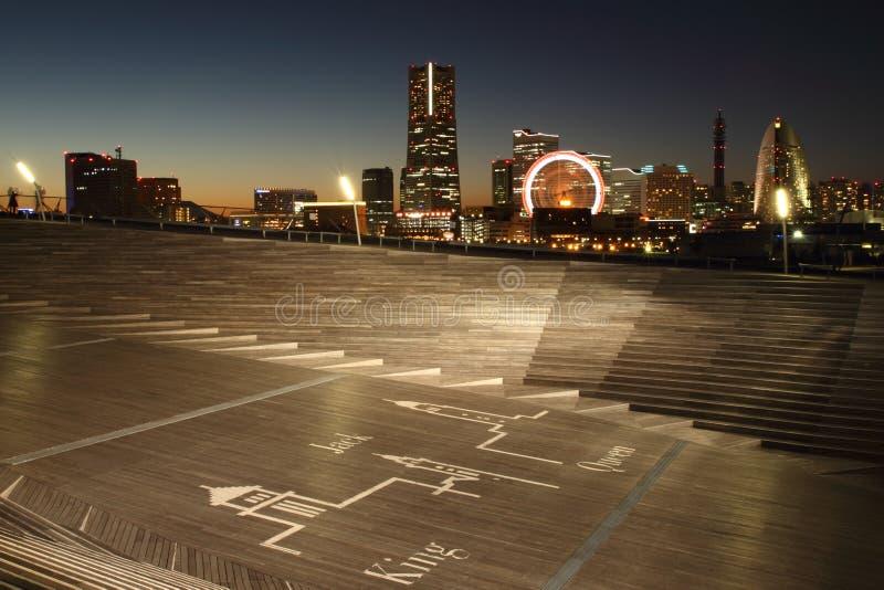 Город Иокогама, горизонт Японии стоковые фото