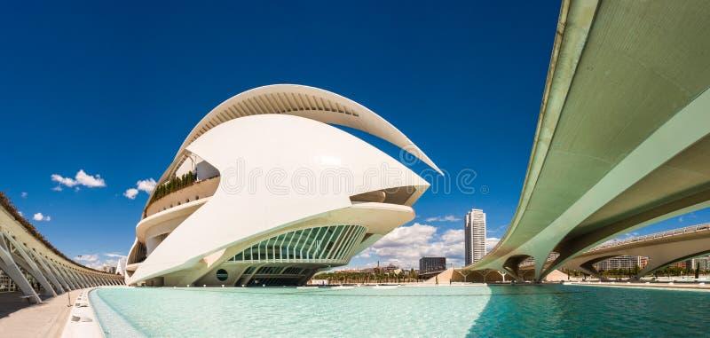 Город искусств и наук, Валенсии, Испании стоковая фотография rf