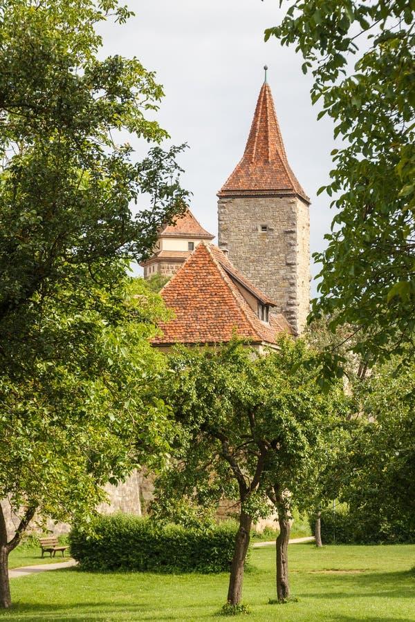 Городища der Tauber ob Rotheburg стоковое фото rf
