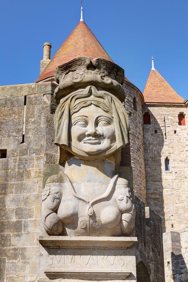 Город Каркассона - од Франции стоковое фото rf
