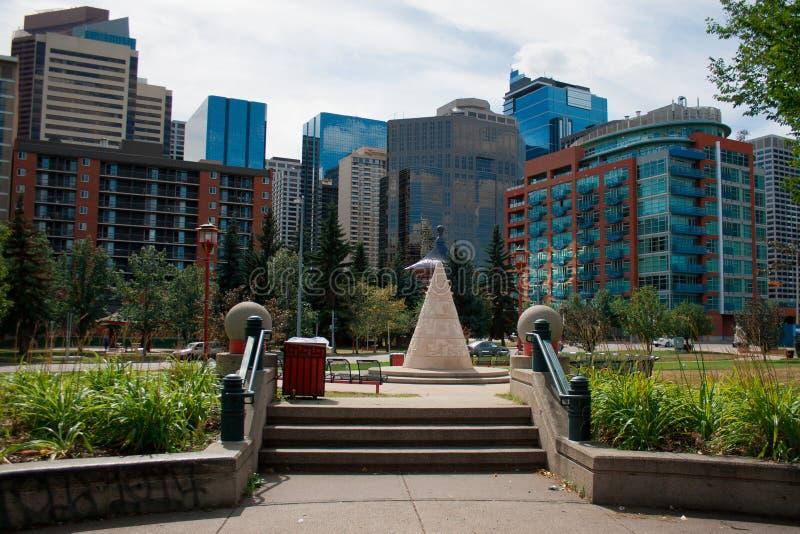 Город Калгари Альберты Канады стоковое фото rf