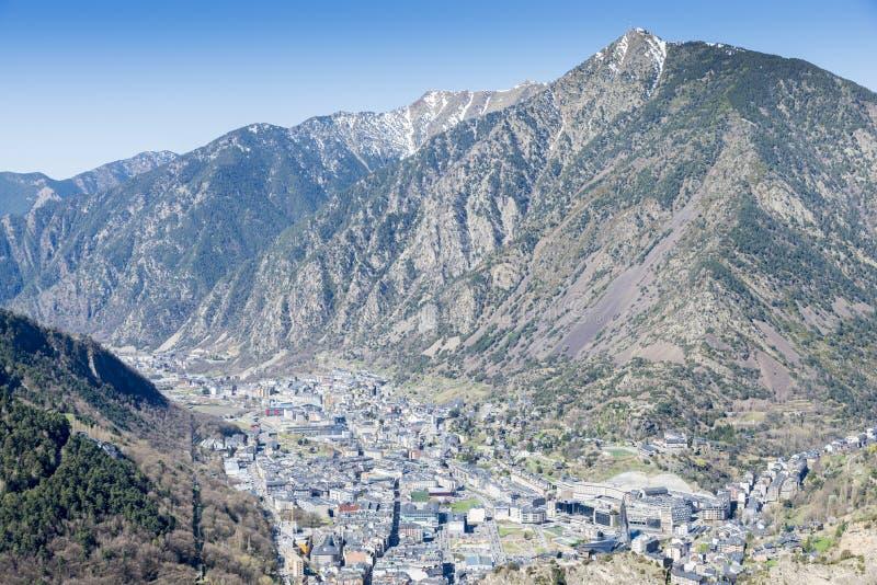Город Ла Vella Андорры стоковое изображение rf