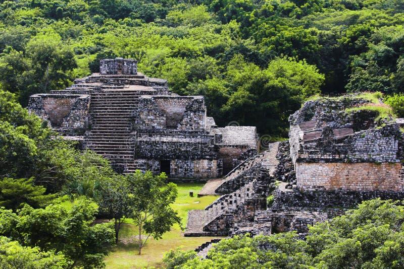 Город Майя Ek Balam. Мексика. стоковое изображение