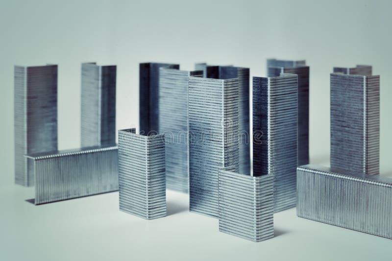 Город макроса абстрактный штапелей стоковые изображения rf