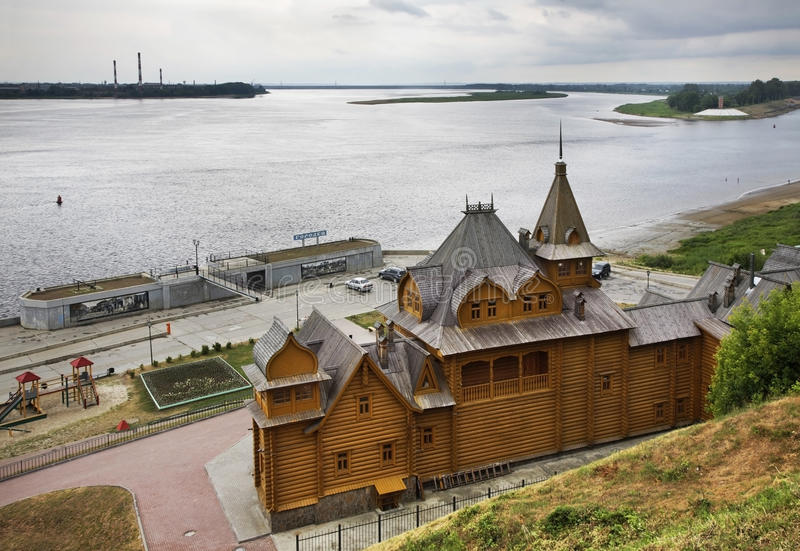 Город мастеров в Gorodets Область Россия Nizhny Novgorod стоковая фотография rf