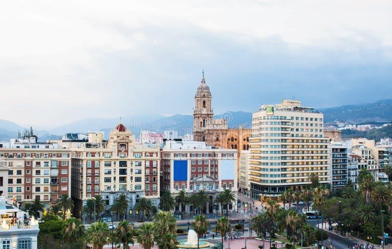 Город Малаги, Испания стоковое фото rf