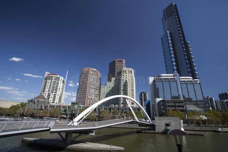 Город Мельбурна стоковая фотография rf