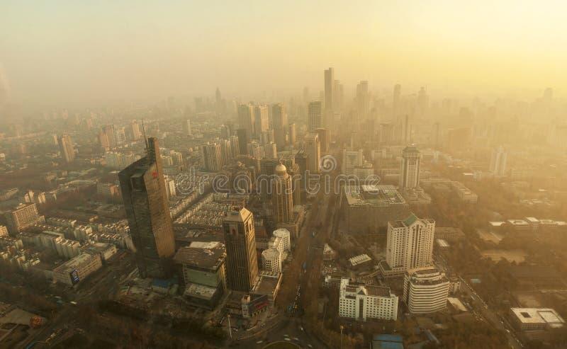 город над загрязнением стоковое изображение rf