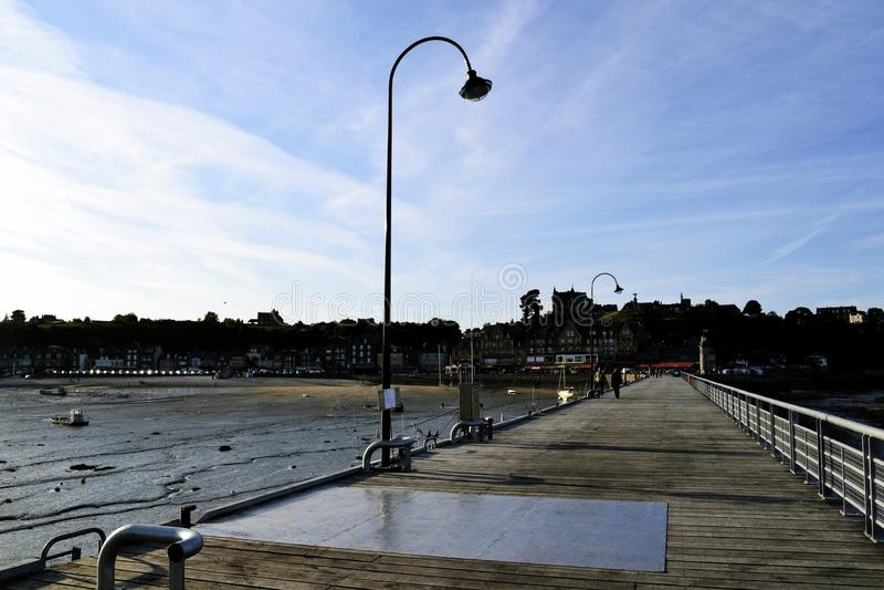 Город на море стоковое изображение