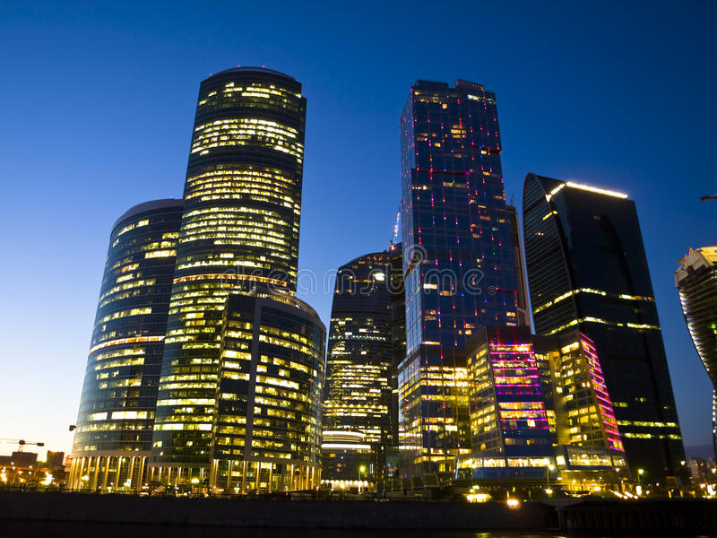 Город ночи Стоковая Фотография RF
