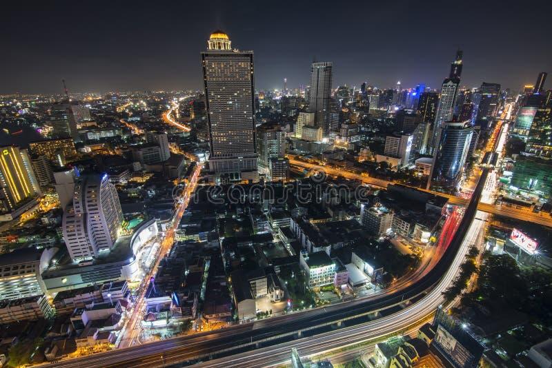 Город 5-ое апреля Бангкока: Город взгляд сверху 5-ого апреля 2015 в Бангкоке стоковые фотографии rf