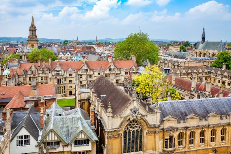 Город Оксфорда Англия стоковые фотографии rf