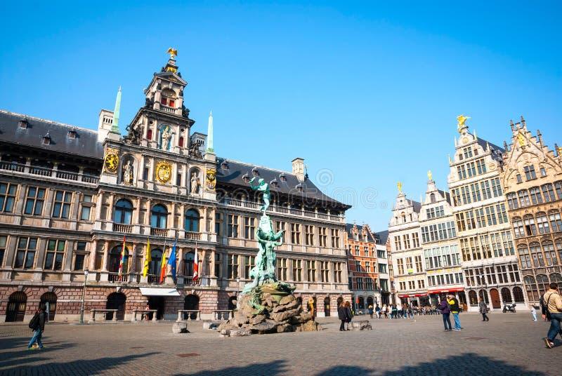 Городок Антверпена старый, Бельгия стоковое фото