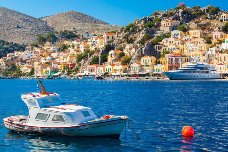 Городок Греция Symi стоковые фото