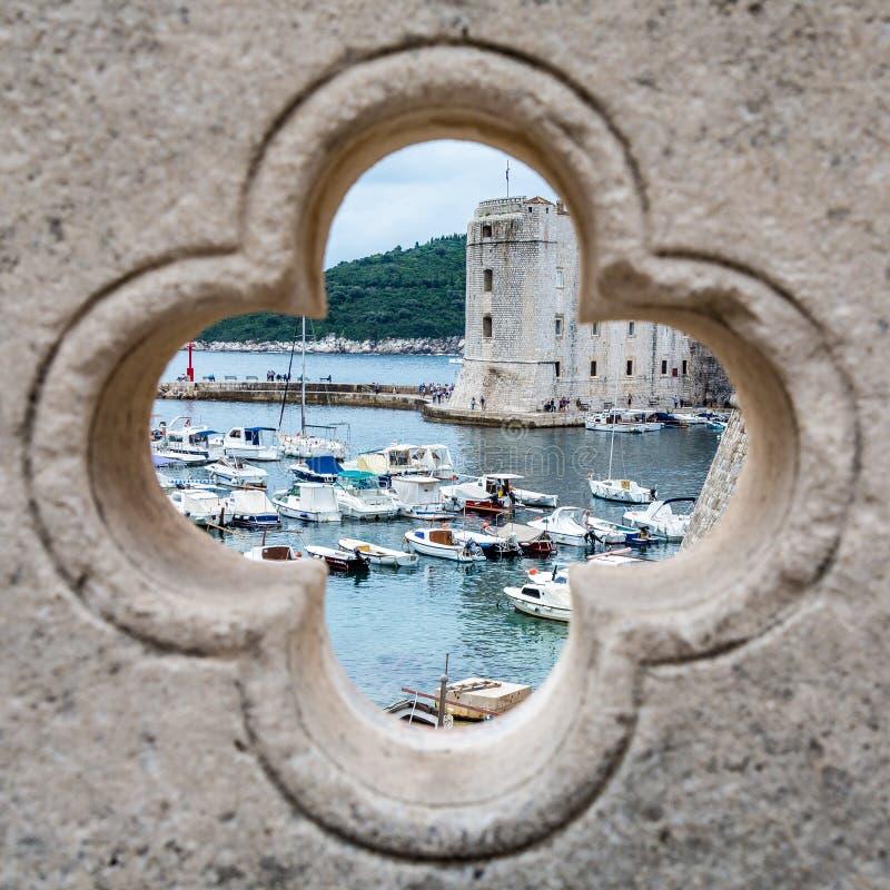 Городок Дубровника старый (взгляд) стоковое изображение