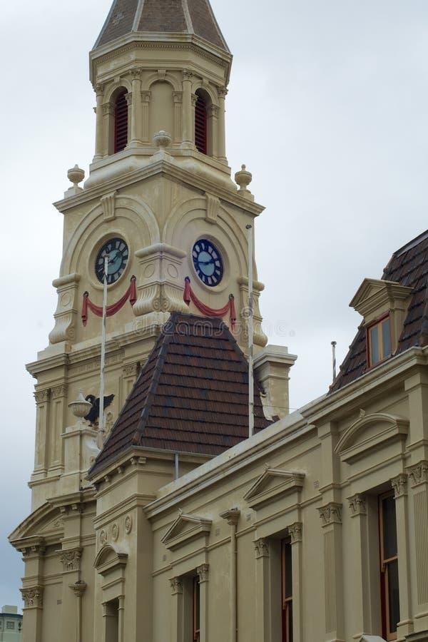 Городок и юбилей Hall, Fremantle, Австралия стоковое изображение rf
