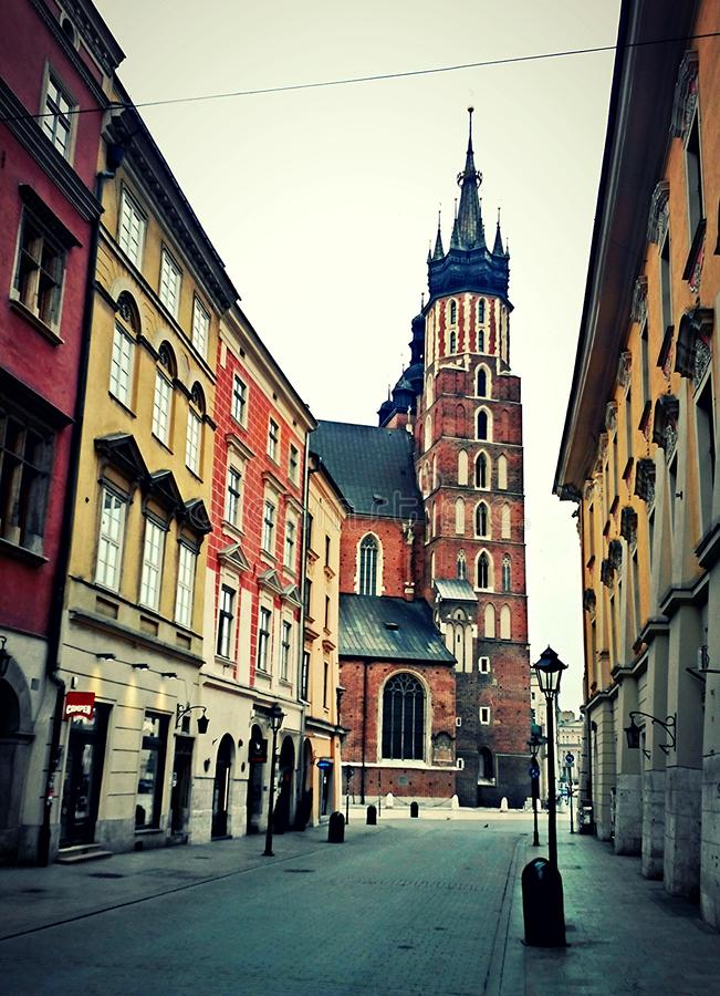 Городок Краков старый, Польша стоковое фото rf