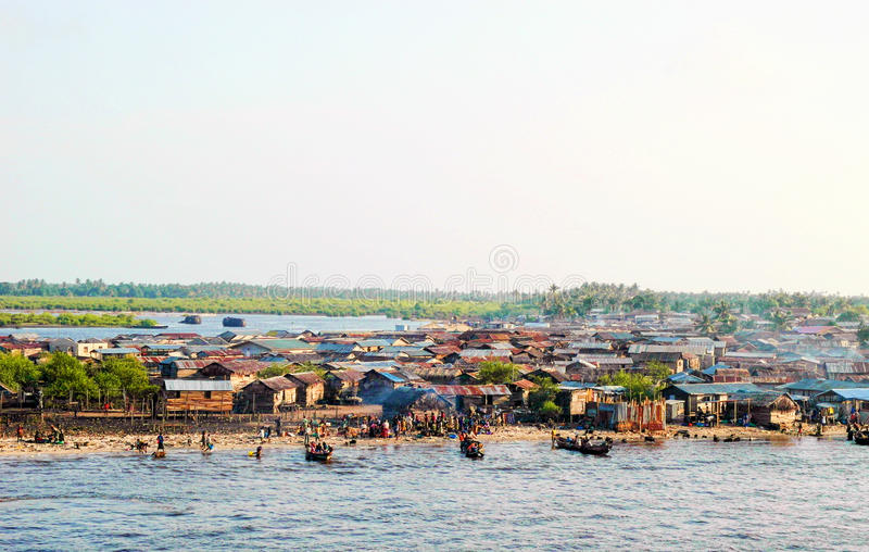 Городок Лагоса стоковое фото