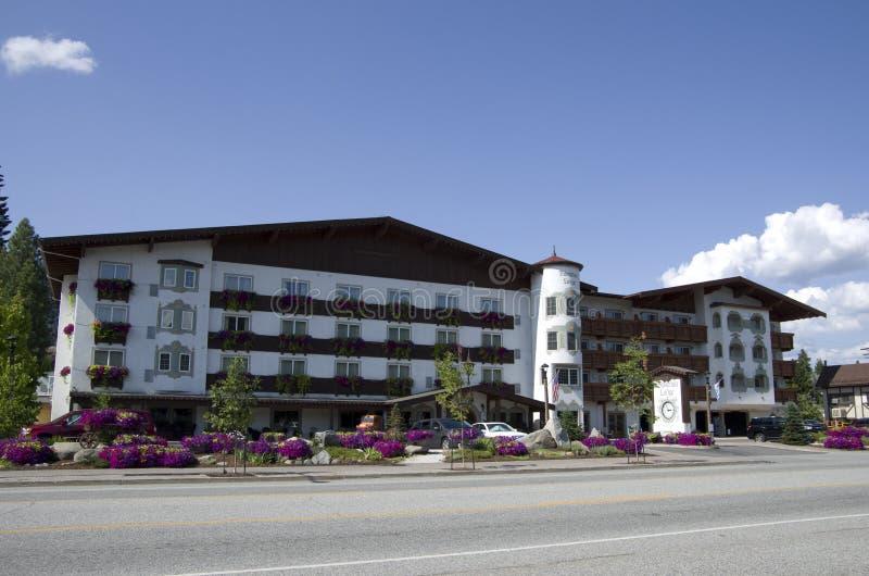 Городок немца Leavenworth ложи Barvarian стоковое изображение