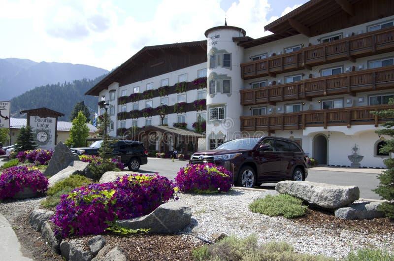 Городок немца Leavenworth ложи Barvarian стоковая фотография