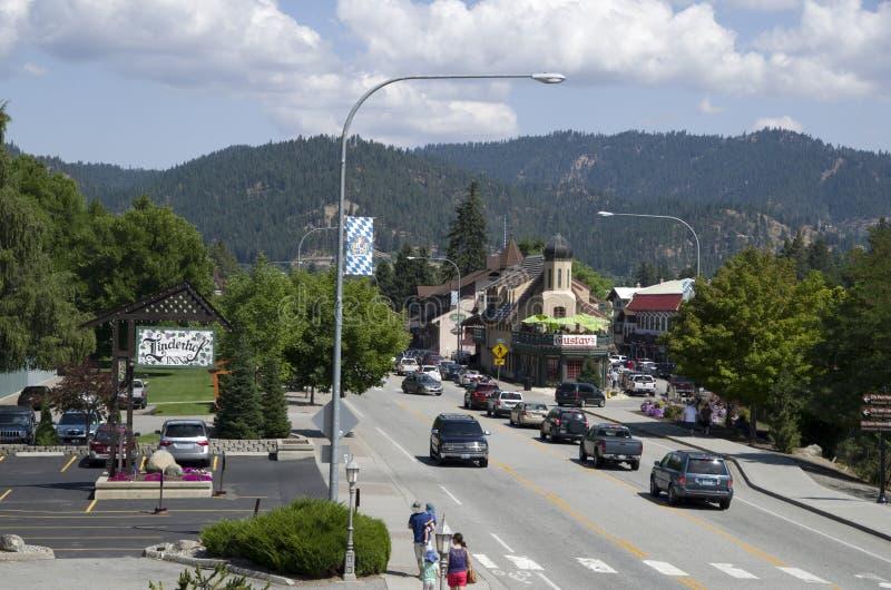 Городок немца Leavenworth стоковые изображения rf
