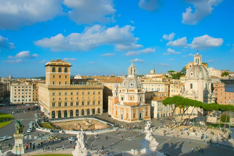 Городок Рима старый на заходе солнца стоковое изображение