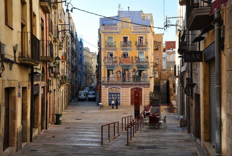 Городок Таррагоны старый стоковые изображения