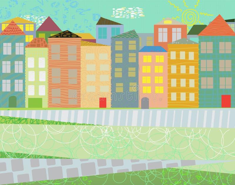 Городок цвета стоковые изображения rf