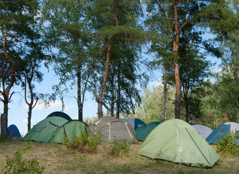 Городок шатра стоковая фотография