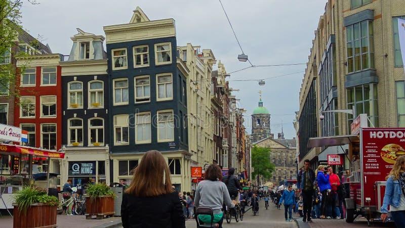 городок amsterdam старый стоковое изображение