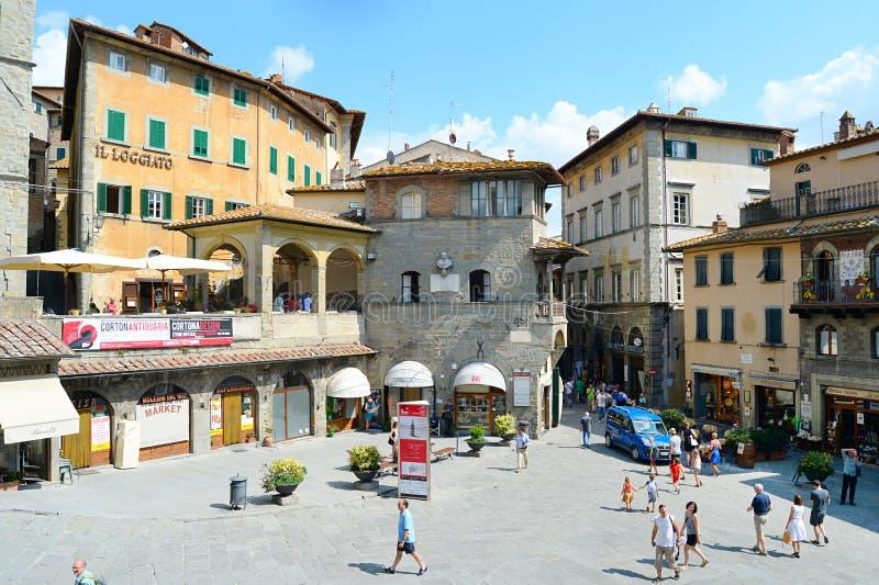 Городок Cortona старый стоковые фотографии rf
