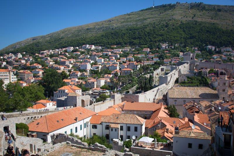 городок dubrovnik старый стоковые изображения rf