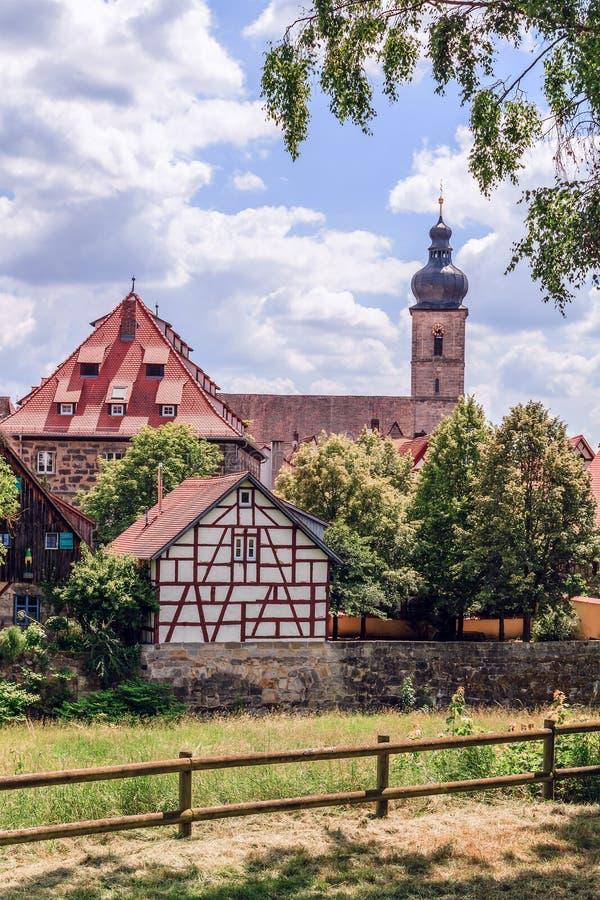 Городок Forchheim старый стоковые изображения