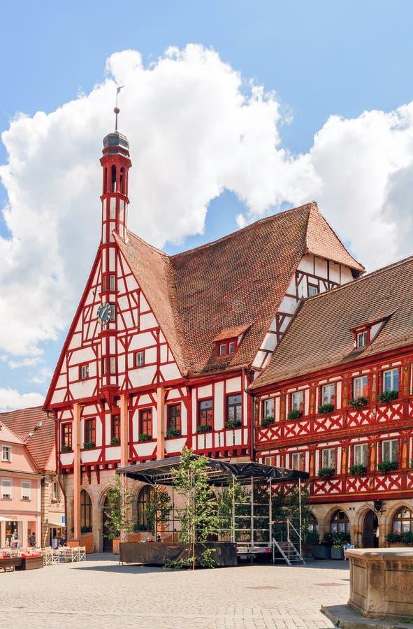 Городок Forchheim старый стоковая фотография