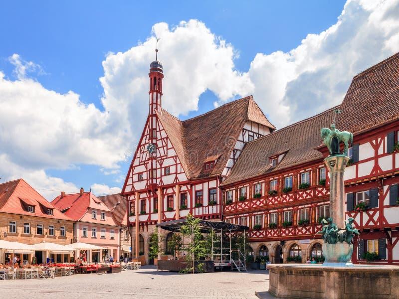 Городок Forchheim старый стоковые фотографии rf