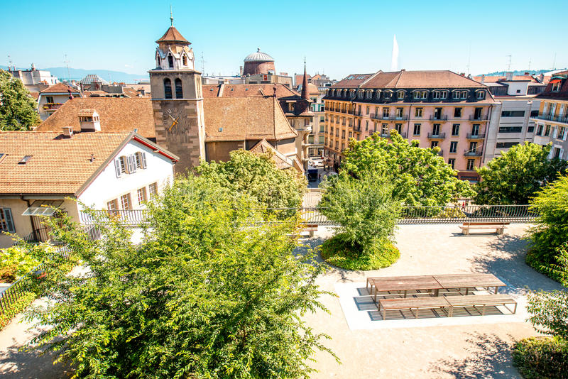 городок geneva старый стоковое фото rf