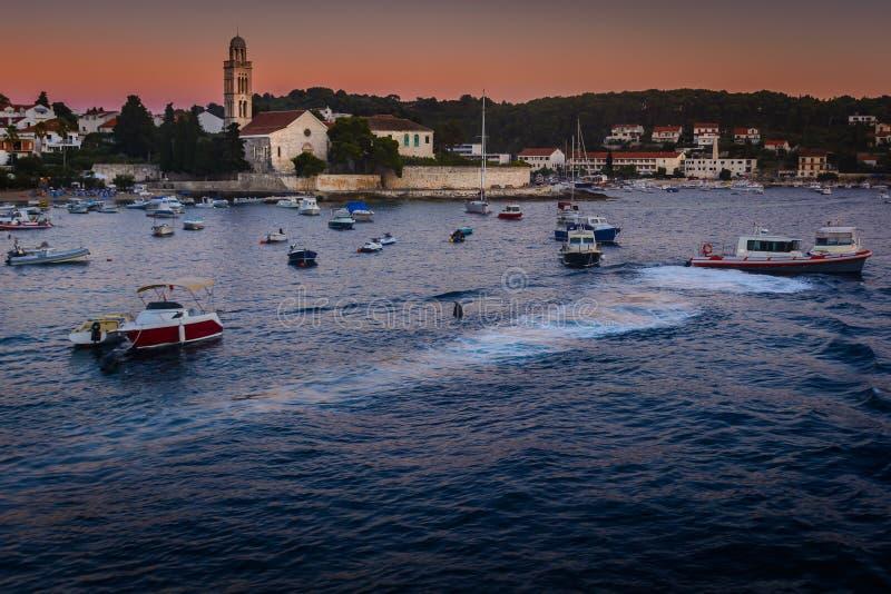 Городок Hvar в Хорватии стоковые фотографии rf