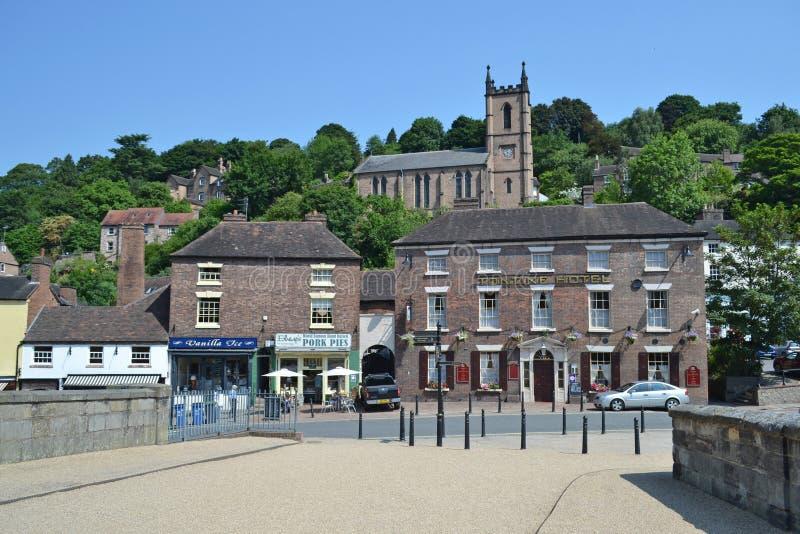 Городок Ironbridge стоковое изображение rf