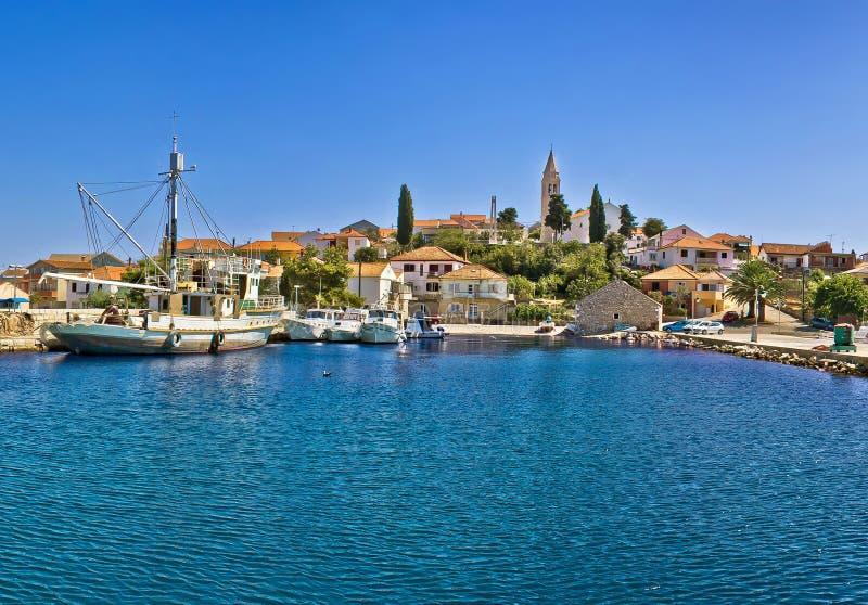 Городок Kali, острова Ugljan стоковое фото rf