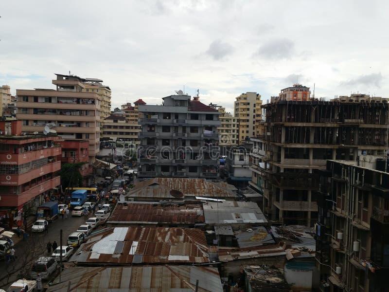 Городок Kariakoo стоковое изображение