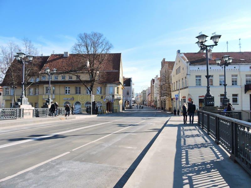 Городок Klaipeda, Литва стоковые изображения