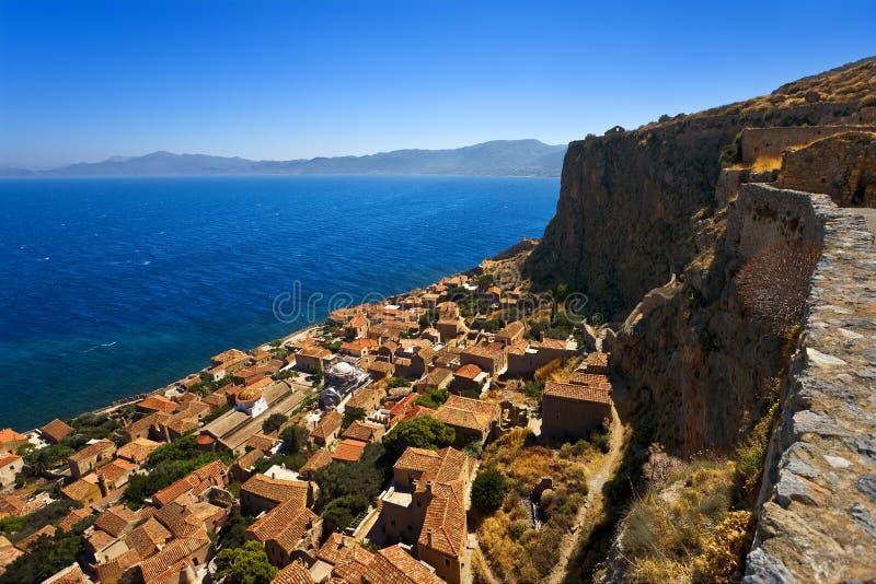 Городок Monemvasia, Греция стоковая фотография