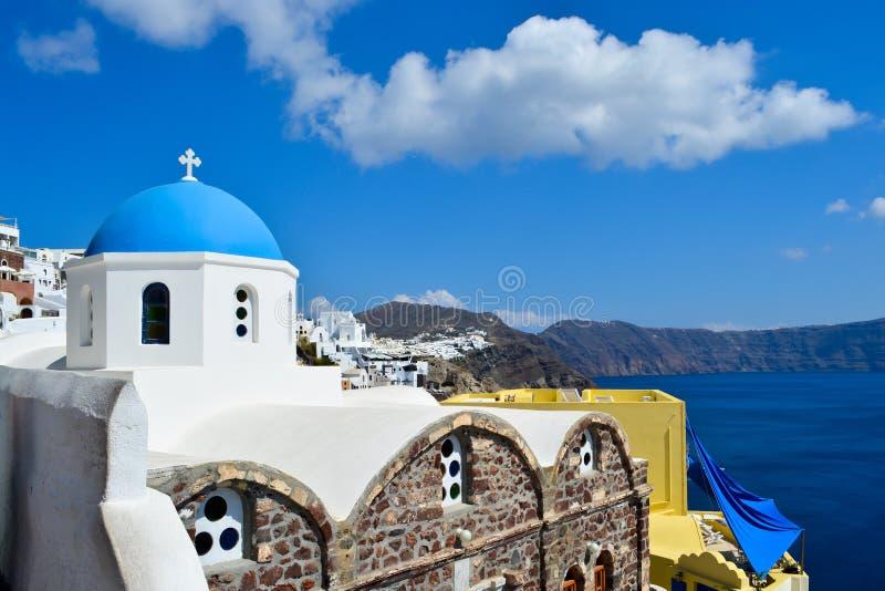 Городок Oia на острове Santorini стоковые изображения rf